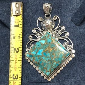 Jewelry - Turquoise Sterling Silver Pendent